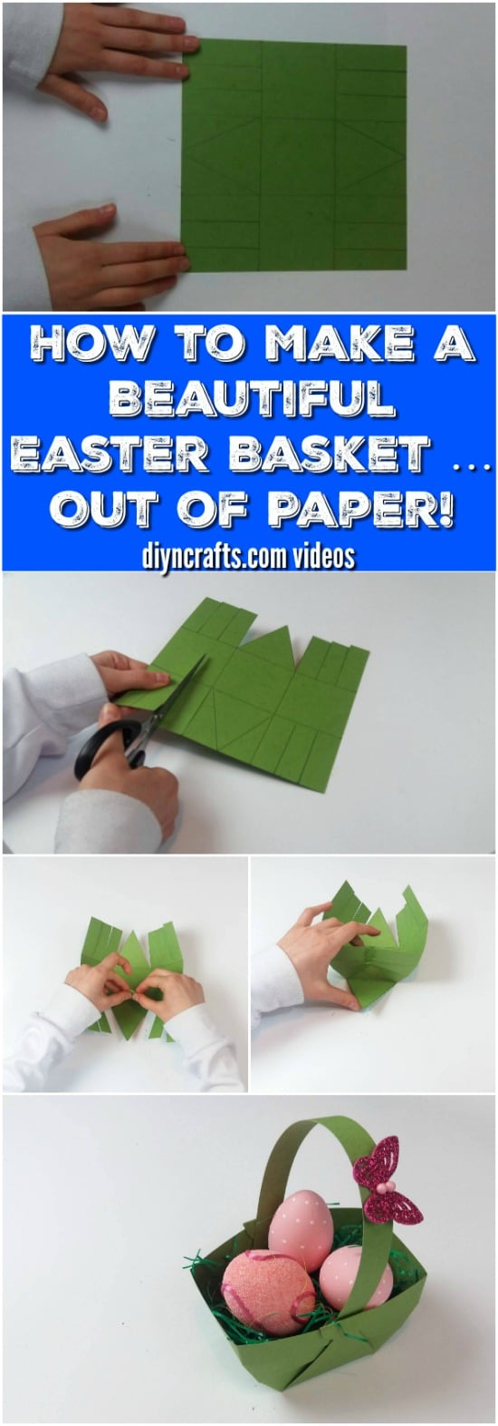 Here Is How to Make a Beautiful Easter Basket … Out of Paper!