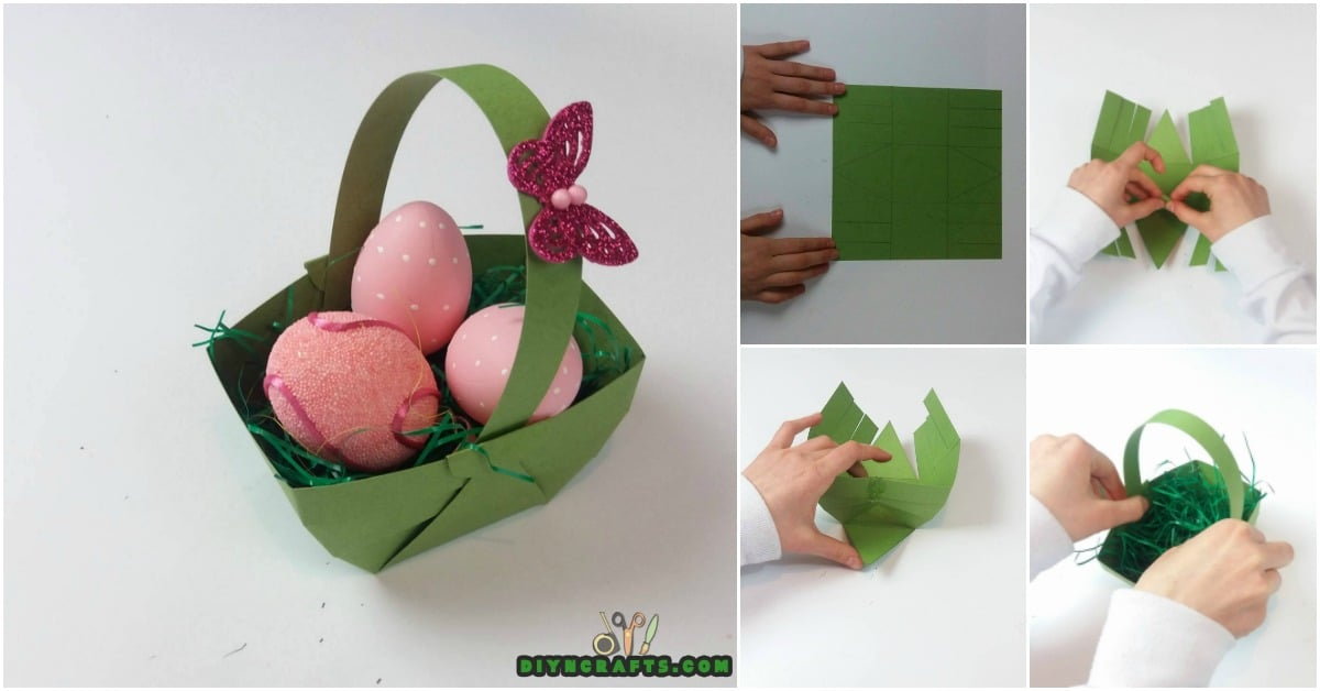 Origami Easter Basket Tutorial (Traditional) - YouTube | 628x1200