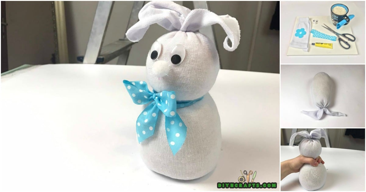 Step 4 - How to Make an Adorable Easter Bunny Out of an Old Sock {Video tutorial}