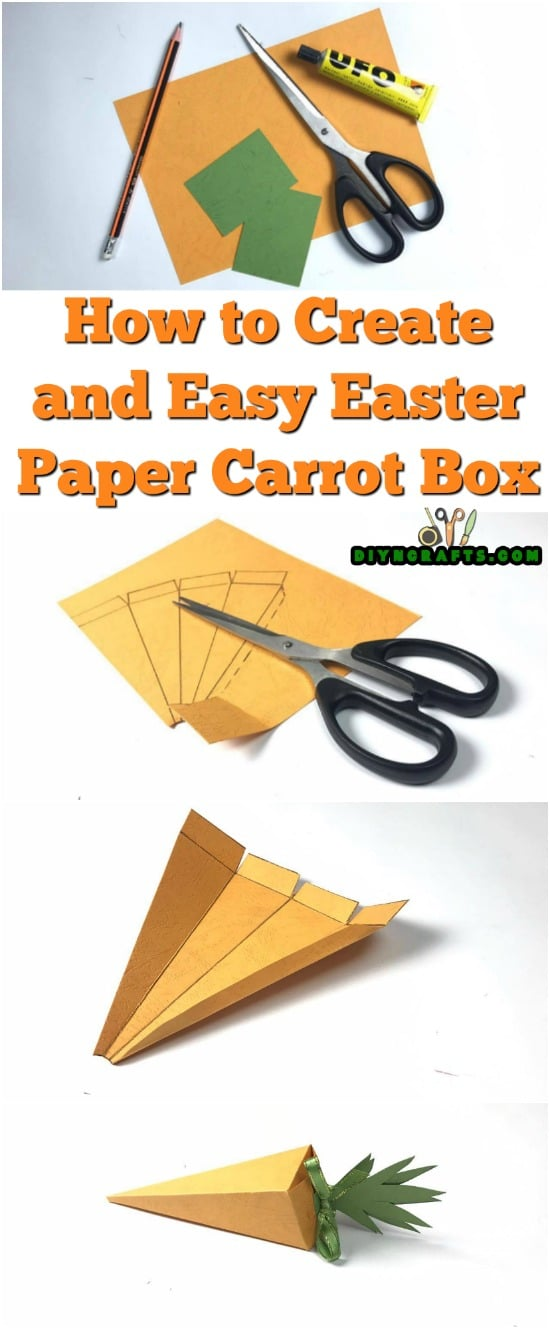 How to Create an Easy Easter Paper Carrot Box - Video Tutorial