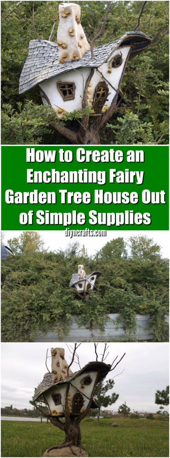 How to Create an Enchanting Fairy Garden Tree House Out of Simple Supplies {Easy Project}