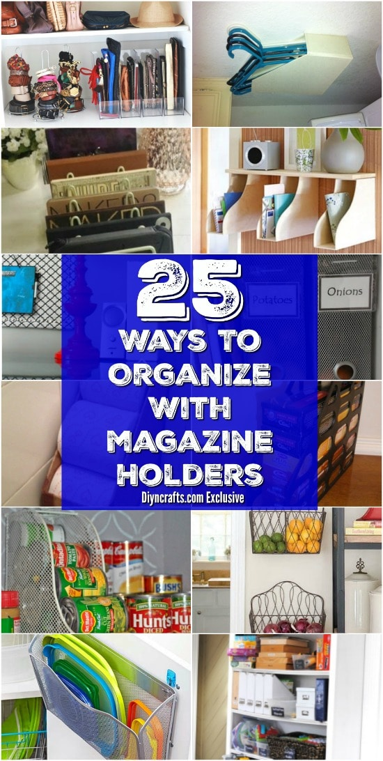 Organization Ideas With Magazine Racks