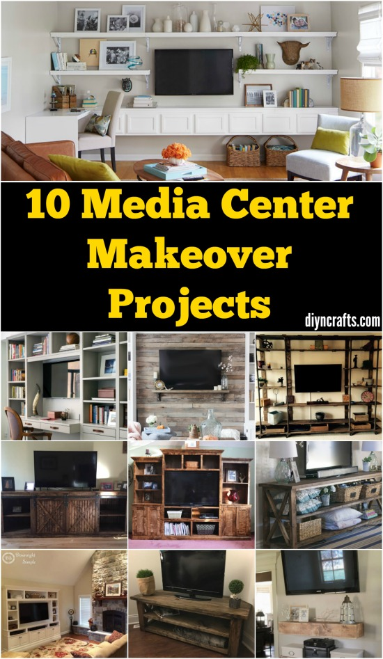 Give Your Media Center a DIY Makeover With These 10 Creative Projects {Free plans}