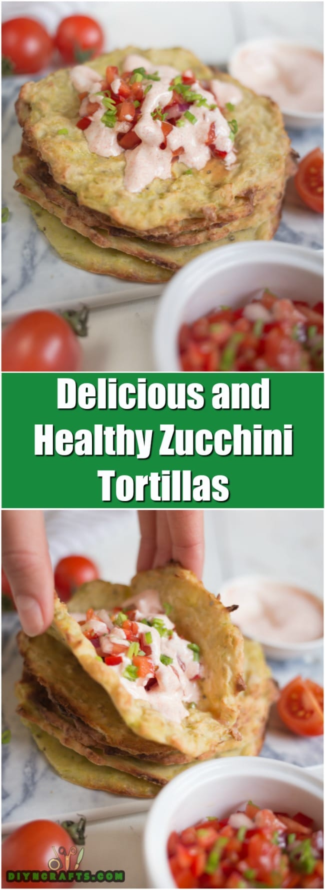 These Easy To Make Zucchini Tortillas Are Healthy And Delicious - Recipe and Photos by DIYnCrafts Team
