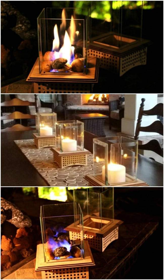Mini Tabletop Glass Fireplace