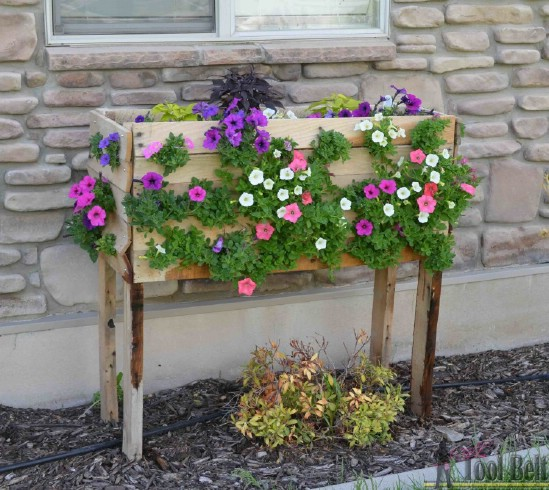 Steps on how to do the DIY Recycled Pallet Planter