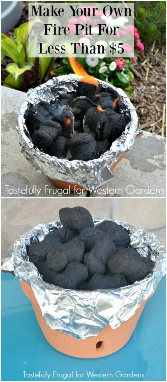 DIY Terra Cotta Fire Bowl