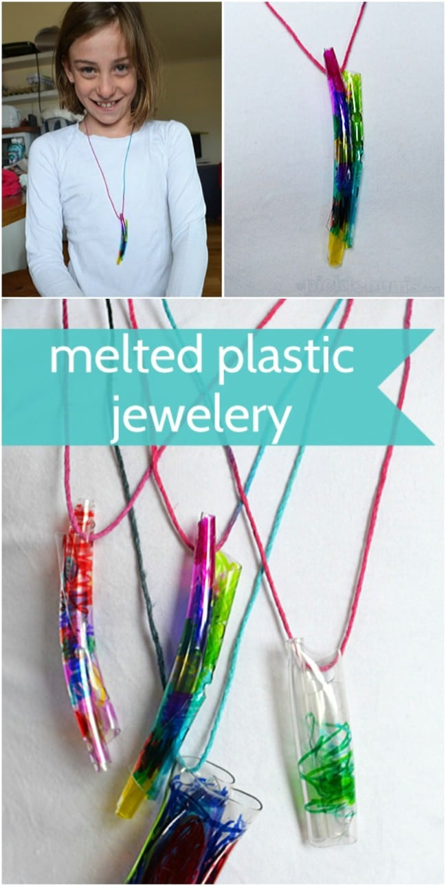 DIY Melted Bottle Jewelry