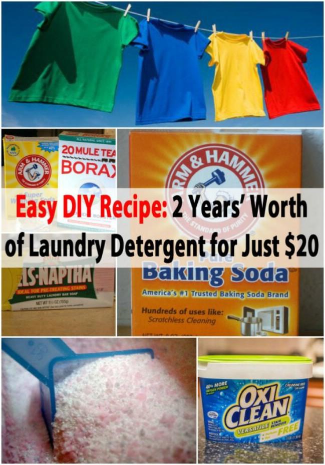 Homemade Laundry Detergent Holder