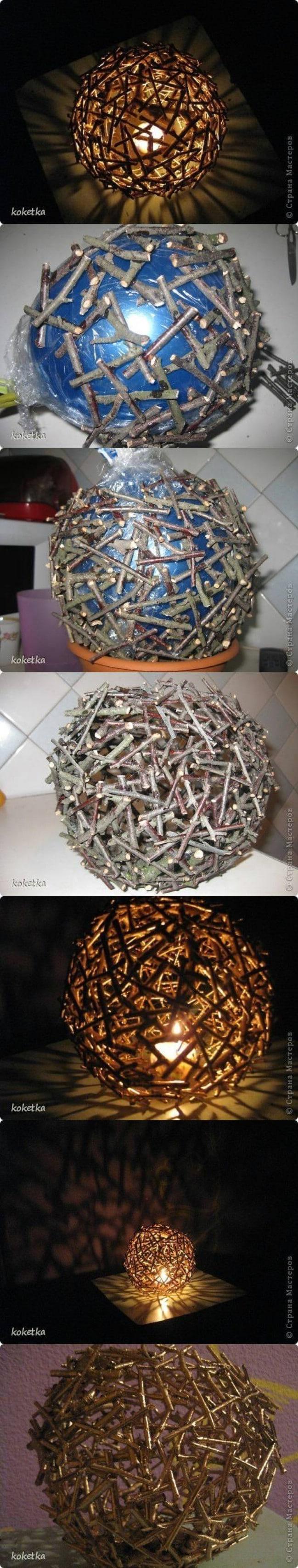 DIY Tree Branch Solar Bulb