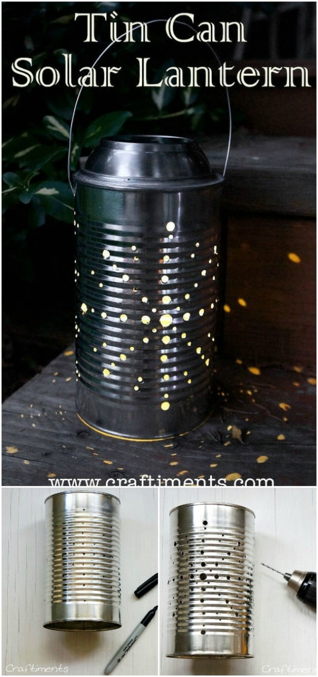 DIY Tin Can Solar Lantern
