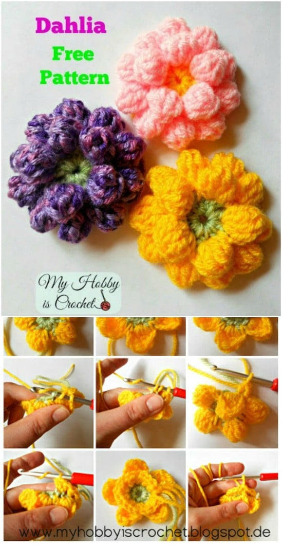 Crochet some flowers.