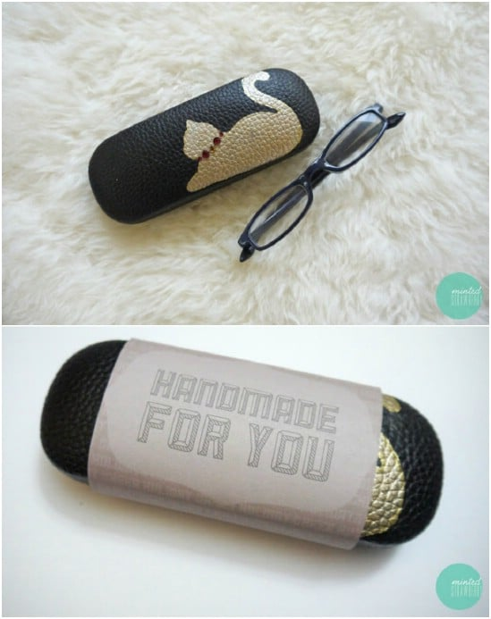 Make some cute, customized eye glasses cases.