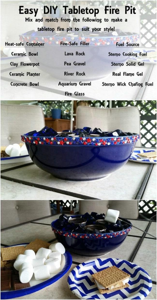 Simple Ceramic Bowl Fire Pit
