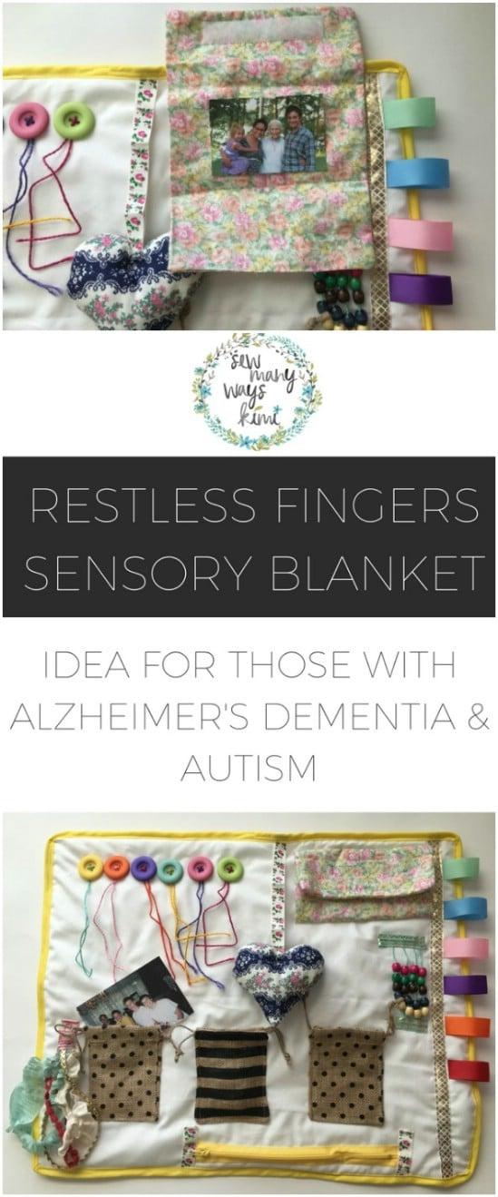 Make an Alzheimer's sensory stim blanket.