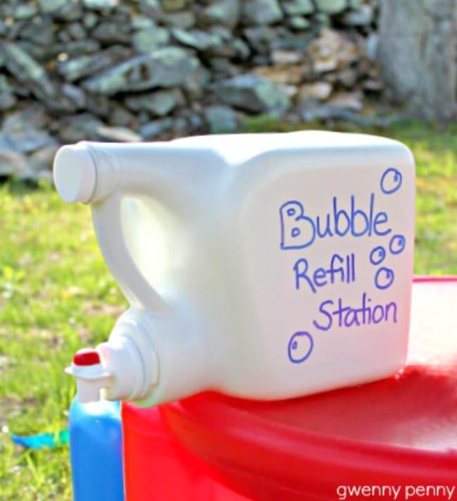 Fun DIY Bubble Refill Station