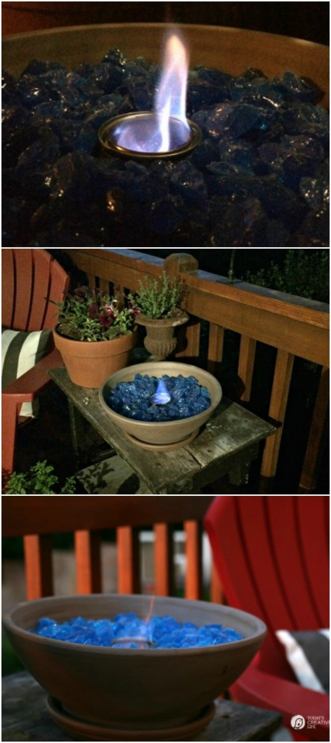 DIY Fire Bowl From Planter