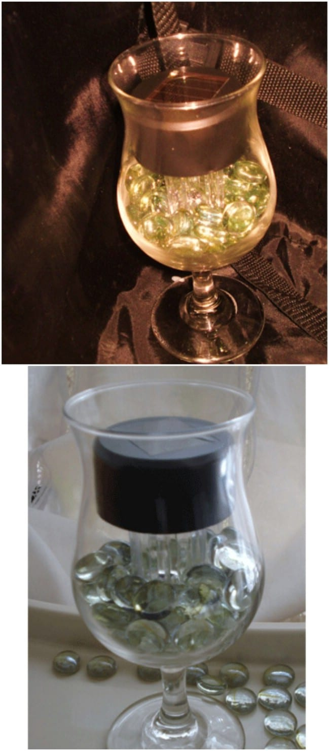 Repurposed Solar Accent Light