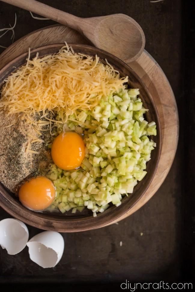 Mixing ingredients:
