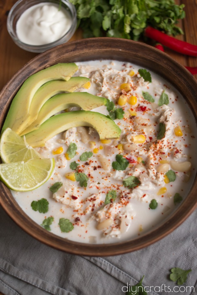 Dressing up with avocado and lime.