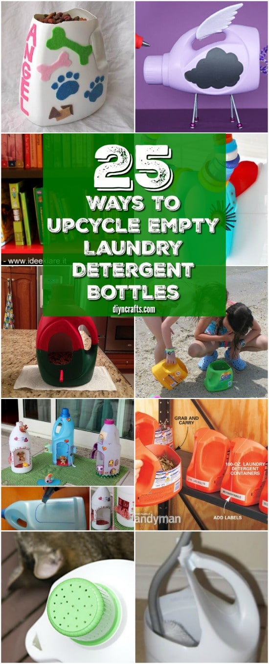 25 Fun And Creative Ways To Upcycle Empty Laundry Detergent Bottles