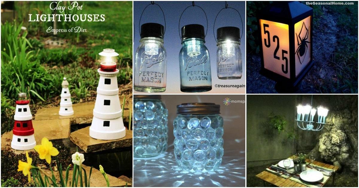 20 Solar Light Repurposing Ideas To Brighten Up Your Outdoors