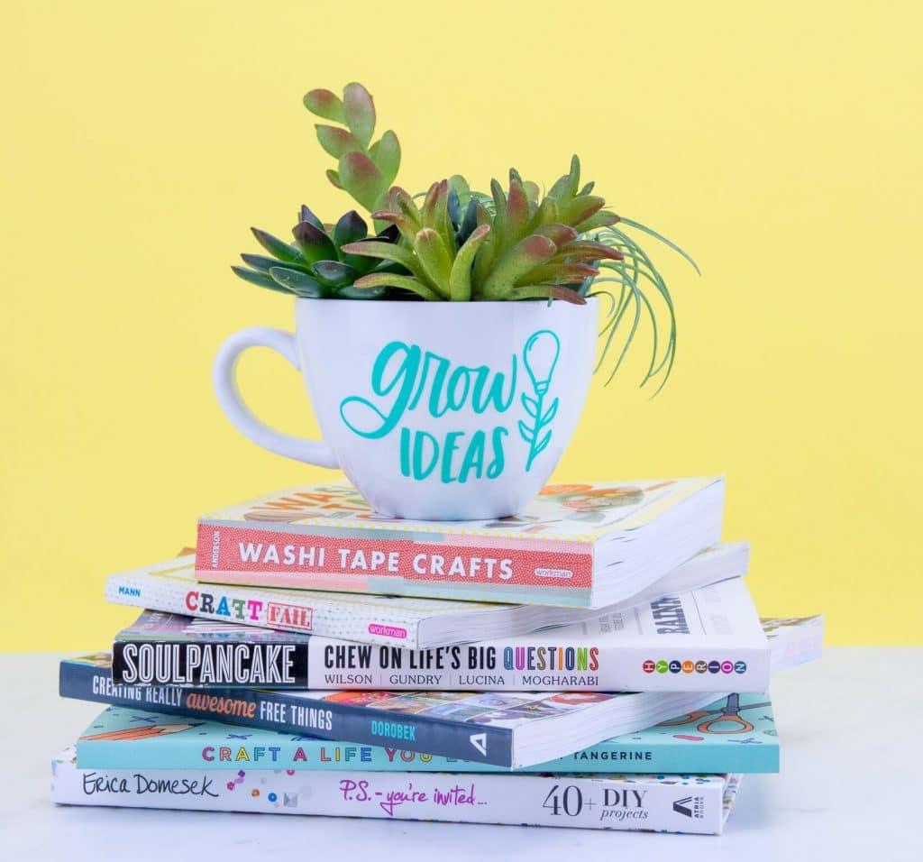 DIY mug succulent planter.