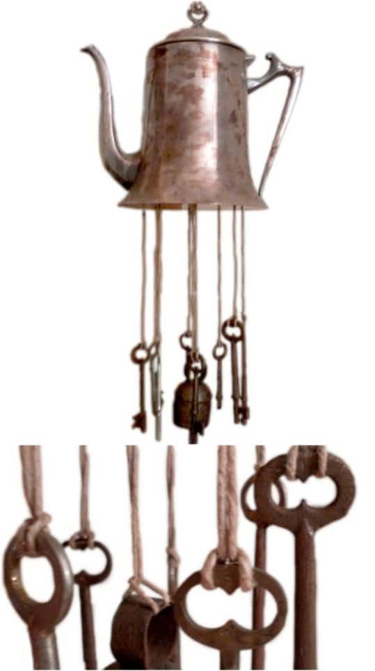 Vintage Metal Teapot Wind Chime