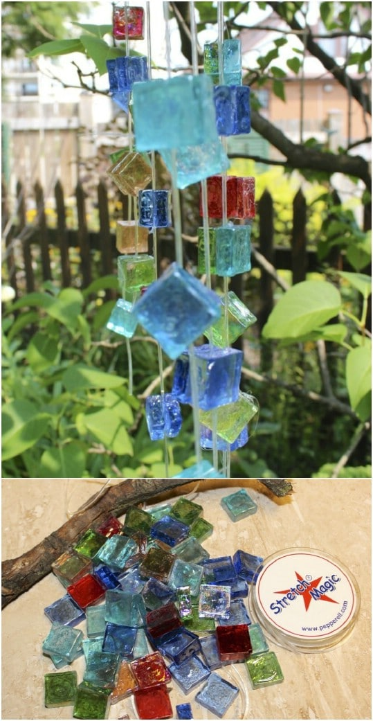 Glass Cube Wind Chime