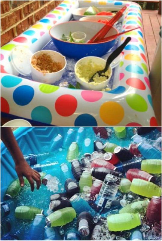 Repurposed Kiddie Pool Party Cooler