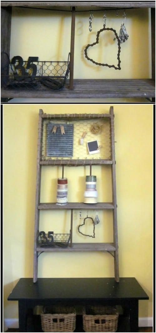40 Wooden Ladder Repurposing Ideas That Add Farmhouse Charm