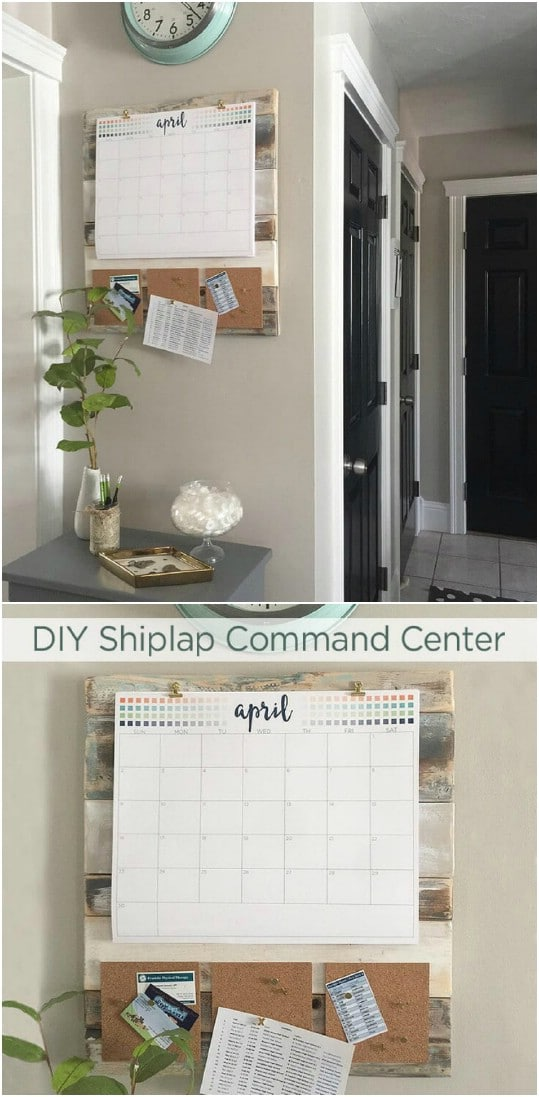 Rustic DIY Shiplap Command Center