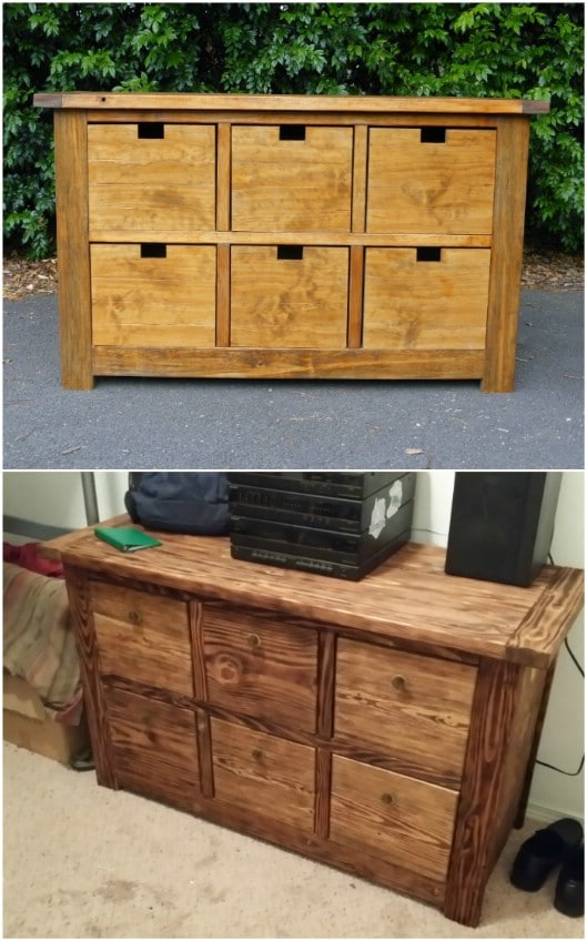 Rustic Crate Style Dresser