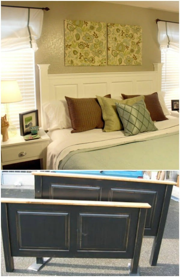 DIY Headboard From Cabinet Doors