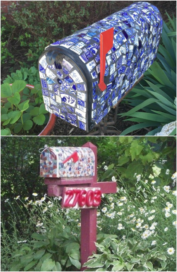 Broken China Mosaic Mailbox