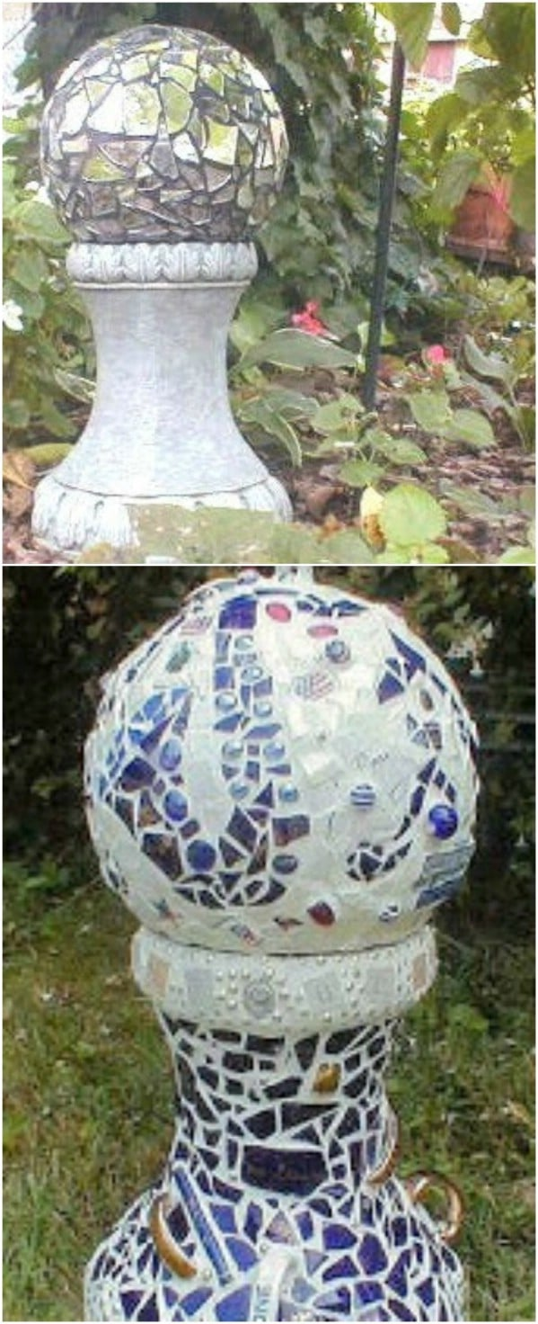 DIY Mirrored Gazing Ball