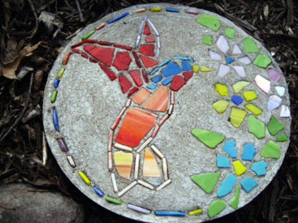 Hummingbird Garden Stepping Stone