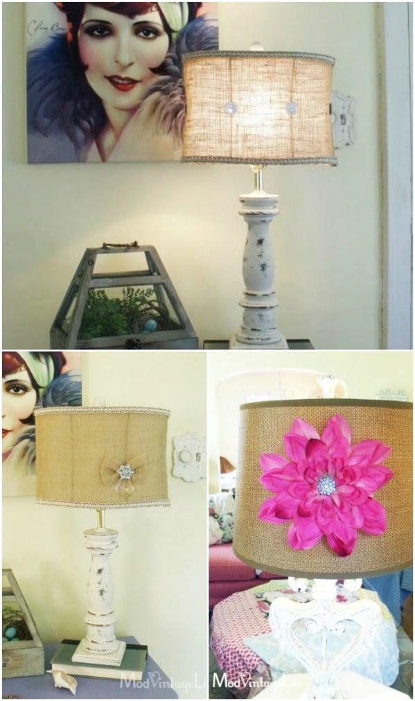 DIY Vintage Jewelry Lampshade