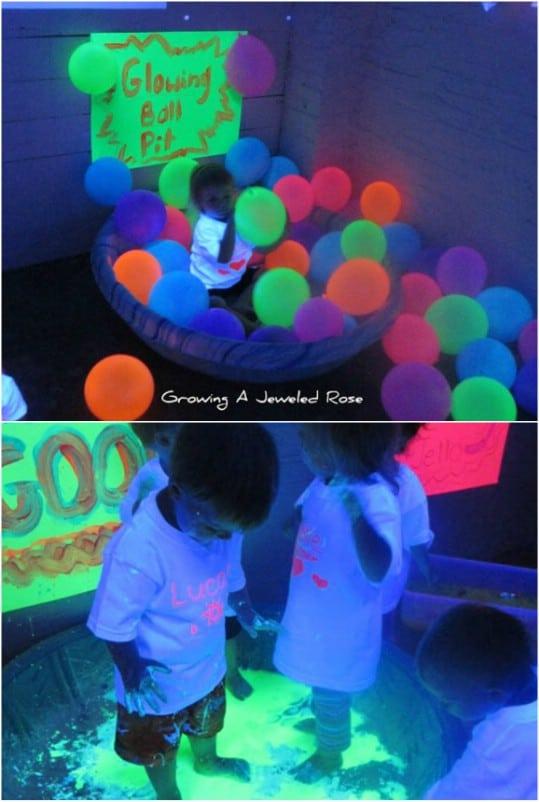 Sensory Play Glowing Ball Pit