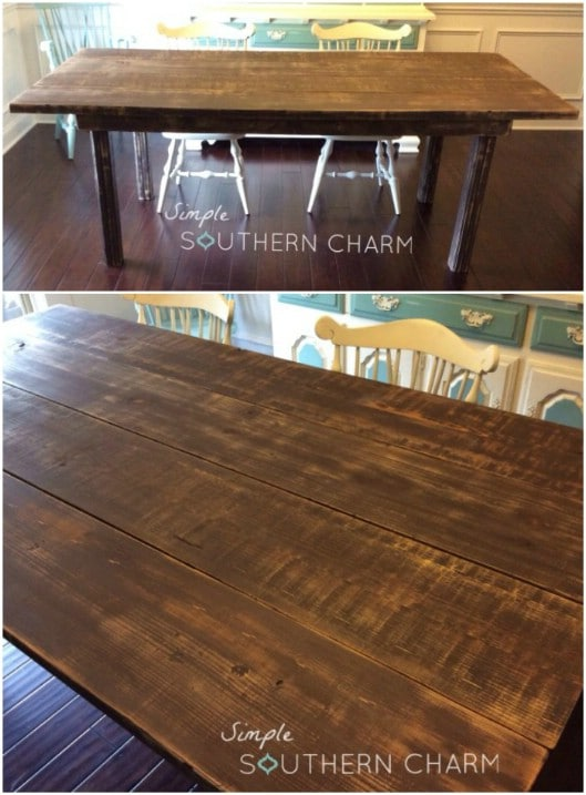 DIY 2X4 Farmhouse Kitchen Table