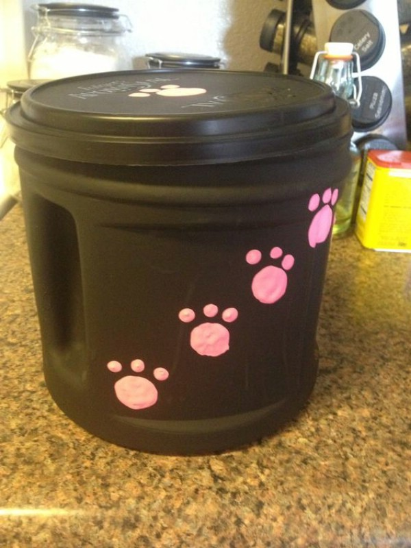 DIY Pet Food Or Snack Canister