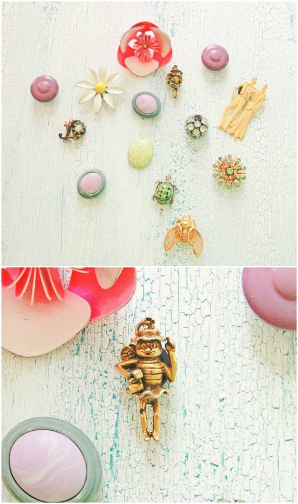 Repurposed Vintage Jewelry Magnets