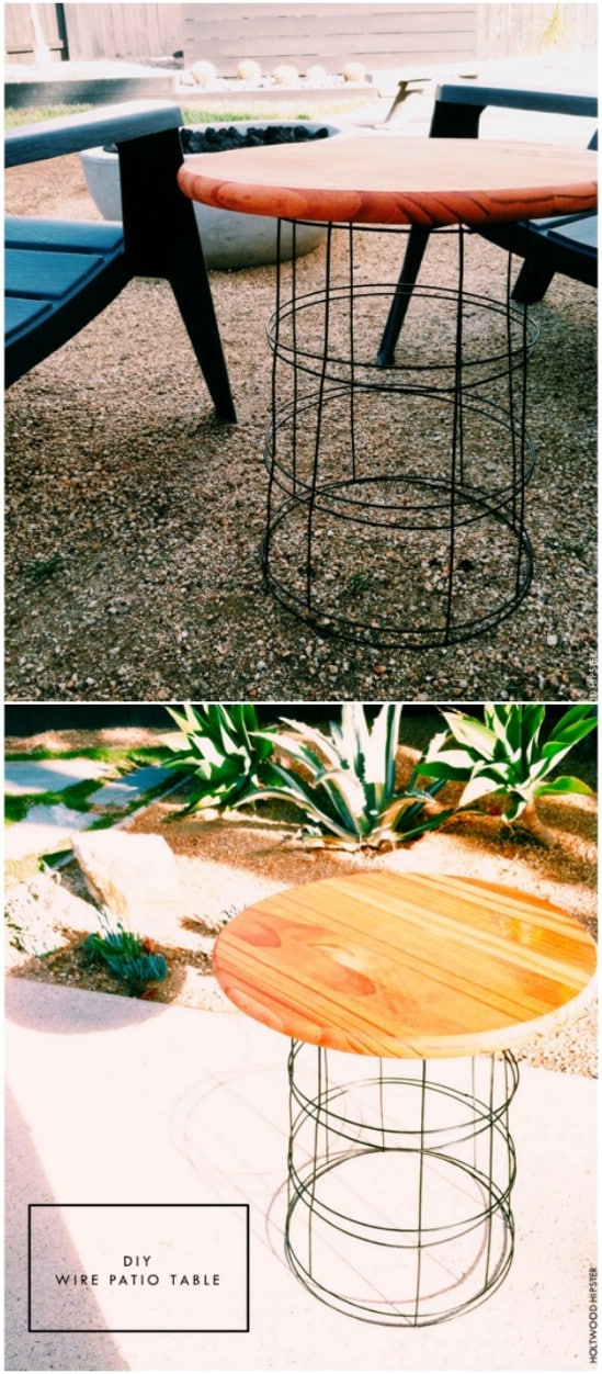 DIY Wire Patio Table