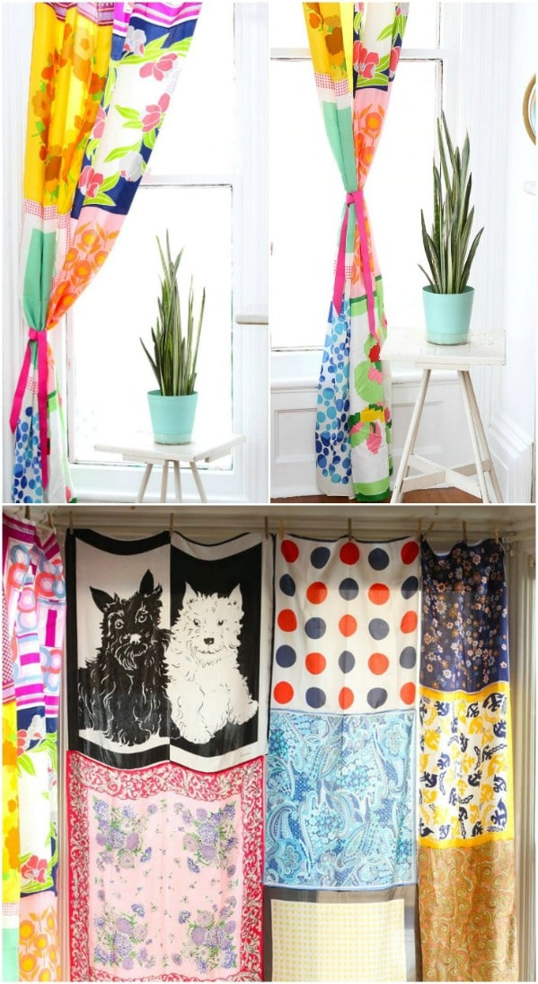DIY Curtains From Old Scarves