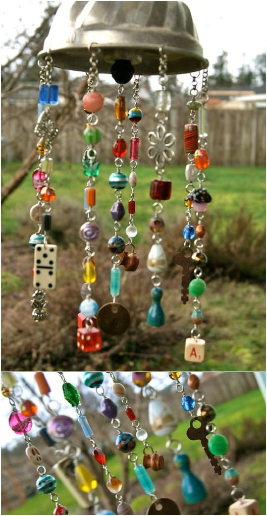 Upcycled Game Piece Wind Chime