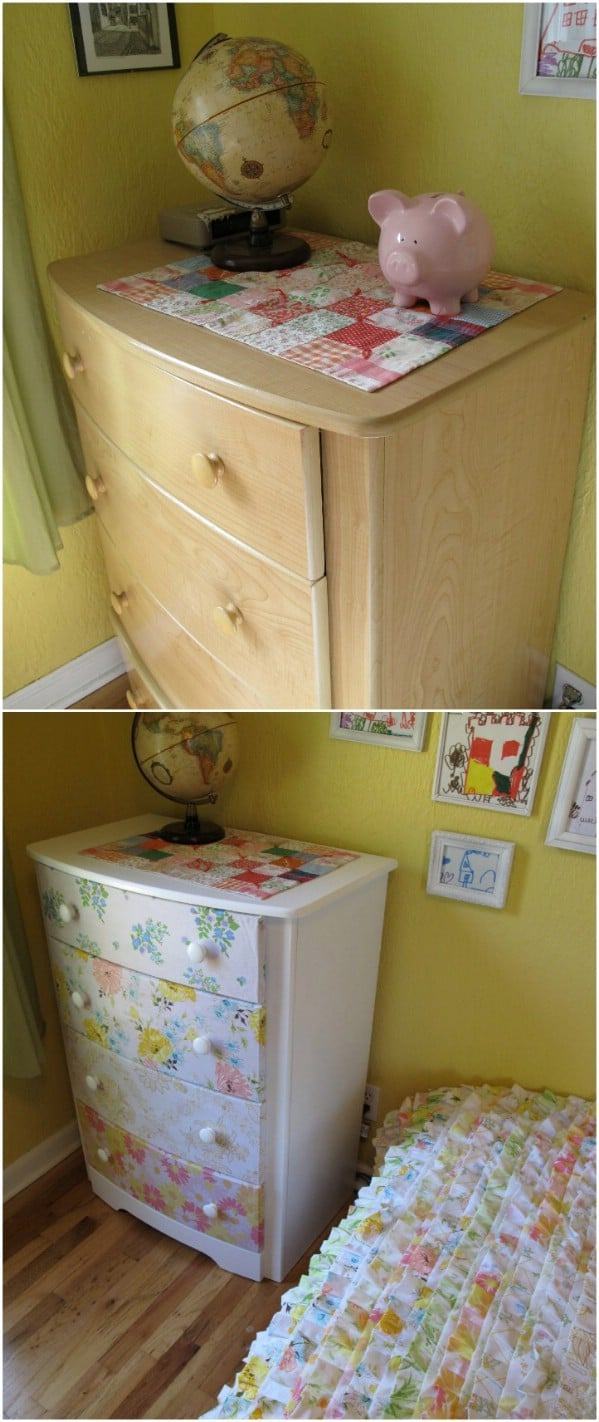 Updated Dresser From Repurposed Sheets