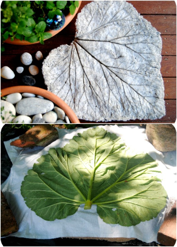 DIY Leaf Sculpture Stones