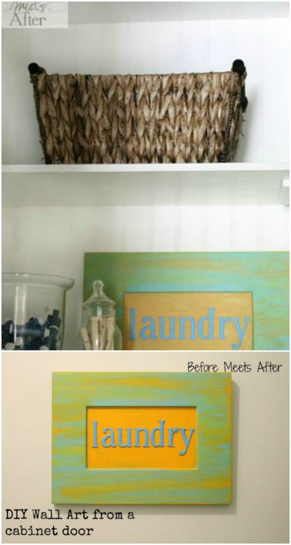 Handmade Laundry Sign From Cabinet Door