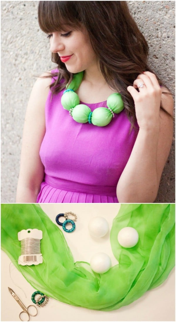 DIY Scarf Bubble Necklace