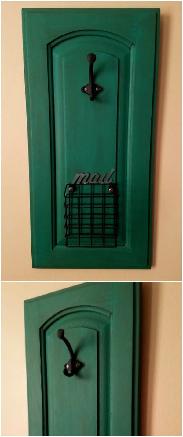 Upcycled Cabinet Door Mail Holder